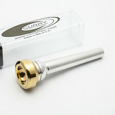 Genuine Curry TC Series 8.5TC 24K Gold Rim & Cup Trumpet Mouthpiece NEW