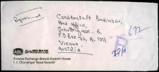 Pakistan 1990 Registered Commercial Cover To Austria #C39290