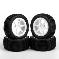 RC Buggy Car 1:10 Off-Road Front & Rear Tyre Rubber Tires Wheels Rims 4pcs set