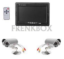 Kit videosorveglianza monitor 7 pollici, 2 telecamere: 1 wireless e 1 via cavo
