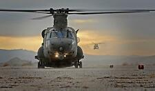 "RAF Chinook Helicopters 18 Squadron Desert Vortex Warrior 12x7"" Reprint Photo"