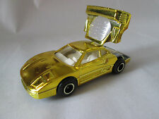 Majorette Gold Mirror Finish Ferrari F.40 Car #280 Ech 1:56 France (Mint)