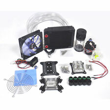 COMPUTER WATER COOLING KIT 120mm RADIATOR 140mm RESERVOIR PUMP CPU GPU BLOCK NEW