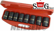 "1"" One Inch Drive Deep Impact Socket Set 24mm 27mm 29mm 30mm 32mm 33mm 36mm 38mm"