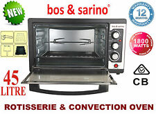 Bench Top Spit Roaster 45L Oven Great for Kebabs Lamb Chicken Ideal for Caravan