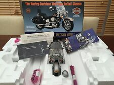 FRANKLIN MINT 1:10 HARLEY DAVIDSON HERITAGE SOFTTAIL CHROME AND BLACK VERY RARE