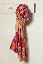 Anthropologie Geriba Scarf, Shimmered Knit Patchwork By Cecilia Prado