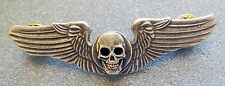 METAL SKULL ON WINGS PIN FREE SHIPPING IN USA
