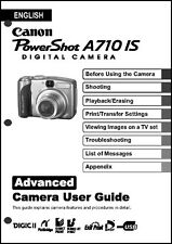 Canon Powershot A710 IS  Digital Camera User Guide Instruction  Manual