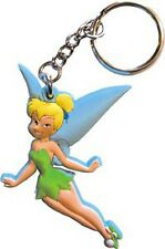 Walt Disney Peter Pan Rubber Tinker Bell Fairy Key Chain Ring