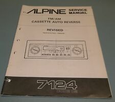 ALPINE AM-FM Stereo Cassette Receiver 7124 Service Manual