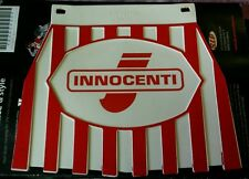 Lambretta Innocenti Red & White Stripe Cuppini Mudflap Rubber Type