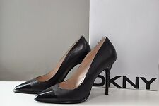 DKNY Black Leather Shay Pointy Toe Heels / Pumps, 8 NIB $245 SOLD OUT