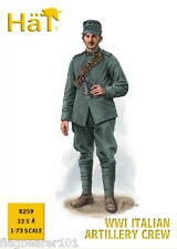 HAT 8259 WW1 ITALIAN ARTILLERY CREW X 32 / 8 POSES 1/72 SCALE WWI ITALIANS