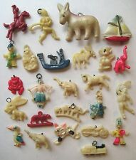 VINTAGE Celluloid MIXED LOT OF 25 Cracker Jack Gumball Toy Prize Charms #6