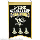 PITTSBURGH PENGUINS THREE-TIME STANLEY CUP CHAMPIONS BANNER CROSBY LEMIEUX NEW