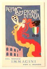 Minicartolina Roma Calcio Campione D'Italia 82-83