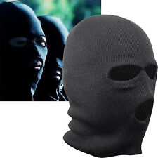 NEWEST BLACK BALACLAVA MASK 3 HOLES WINTER SAS STYLE ARMY SKI HAT NECK WARMER