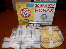 70 GALLON HOMEMADE LAUNDRY  DETERGENT  SOAP KIT ( 1 Gallon Recipe Included )