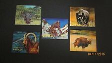 Bhutan 3D Stamps - 1970 Animals 116 b d e Big Foot Abominable Snowman MNH