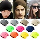 FLAP LONG BEANIE SLOUCH STRICK MÜTZE TREND WINTER UNISEX HERREN DAMEN KINDER