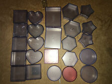 24 pc Huge Creative Memories Paper Punch Container Holder Lot Square Heart Star