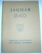 JAGUAR 240 OWNERS HANDBOOK NEW NOS COMPLETE WITH MAINTENANCE CHART # E/147/2