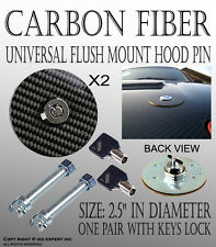 TMZ 1Pair Real Carbon Fiber Overlay Hood Pins Locks Latch Kit with Keys cool DN8