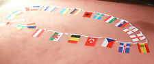 2  x  EURO 2016 SOCCER BUNTING 44 FEET 24 flags  FOOTBALL EUROPEAN CHAMPIONSHIPS