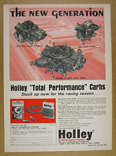 1969 HOLLEY Centra-Flow 500 CFM Mark II 1050 Carbs Carburetors vintage print Ad