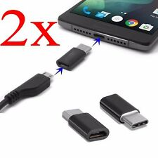 2x USB3.1 Type-C Male to Micro USB Female Converter USB-C Adapter Konverter