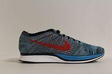 Nike Flyknit Racer Neo Turquoise Crimson 526628-404 Men's 12 Women's 13.5 New