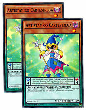Set 2X ARTISTAMICO CARTESTREGA Performapal Trump Witch SDMP-IT010 Italian YUGIOH