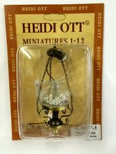 Hanging Oil Lamp With Antique Finish 12 Volt, Doll House Miniatures