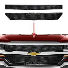 2016 17 Chevy Silverado 1500 Black Web Grille Overlay Front Grill Covers Inserts