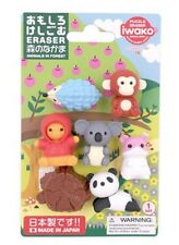 Iwako Erasers Blister Pack Japanese Erasers Kawaii Forest Animals set