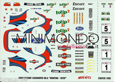 DECALS FORD ESCORT COSWORTH GR.A  MARTINI TOTIP RALLY CIOCCO 1995 1/43 MERI KITS