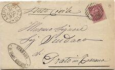 P8675   Firenze, Campi Bisenzio, annullo numerale a sbarre, 1887