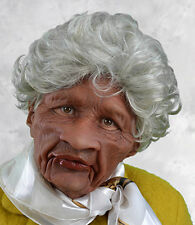 Funny Old Black Woman Halloween Mask Moves with Face Make Your Own Movie