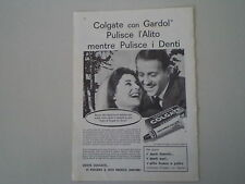 advertising Pubblicità 1961 DENTIFRICIO COLGATE