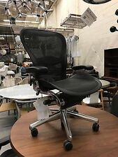Brand New Herman Miller Aeron Chair with Polished Aluminium Chassis and Base