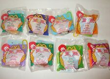WINNE THE POOH SOFT TOY CLIPS FULL SET OF MCDONALDS DISNEY TOYS NEW IN PACKETS