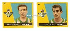 LOTE 2 CROMOS ANTIGUOS FUTBOL LIGA 1959-1960 REAL BETIS BRUGUERA Football Cards