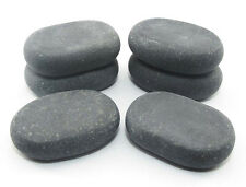 HOT STONE MASSAGE: 6 MEDIUM Basalto STONES - 6,5 x 4,5 x 1,75 cm