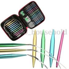 Metal Interchangeable Circular Knitting Needles 13 Size 2.75mm-10mm in case