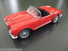 LANCIA AURELIA Spider 1955 ROSSO 1:18... BBURAGO metallo/plastica OVP... #l236