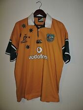 AUSTRALIAN Wallabies Canterbury Vodafone Rugby JERSEY Short Sleeves Size XL