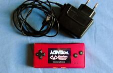 Pink Nintendo GameBoy Micro + Adapter + Spider-Man Game, Marvel, Tested