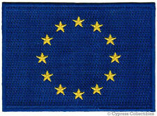 EU EUROPEAN UNION FLAG PATCH EMBROIDERED EURO IRON-ON France Germany UK Greece