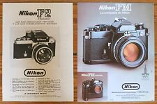 NIKON F2 FM ADS 1970s Vintage Advertising Prints Photography Camara Camera photo